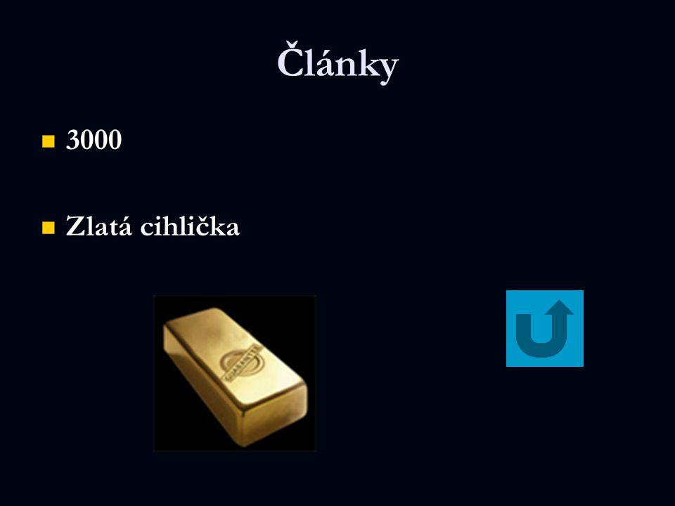 Články 3000 Zlatá cihlička