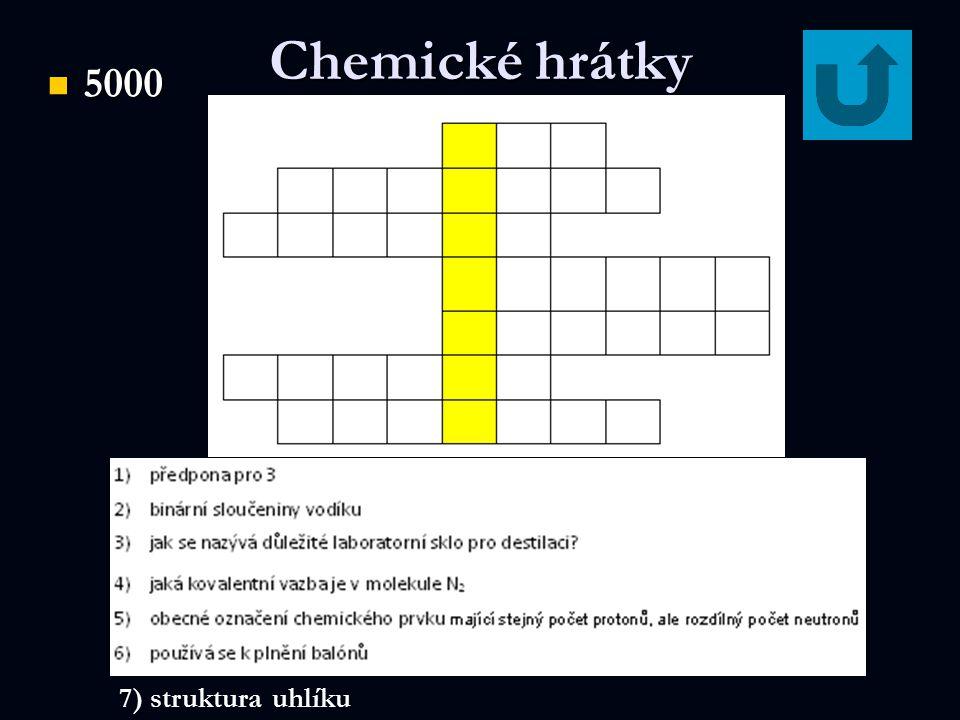 Chemické hrátky 5000 7) struktura uhlíku