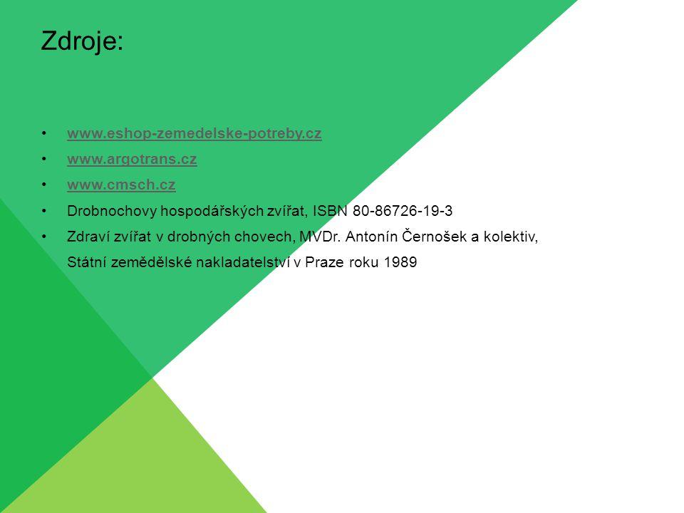 Zdroje: www.eshop-zemedelske-potreby.cz www.argotrans.cz www.cmsch.cz