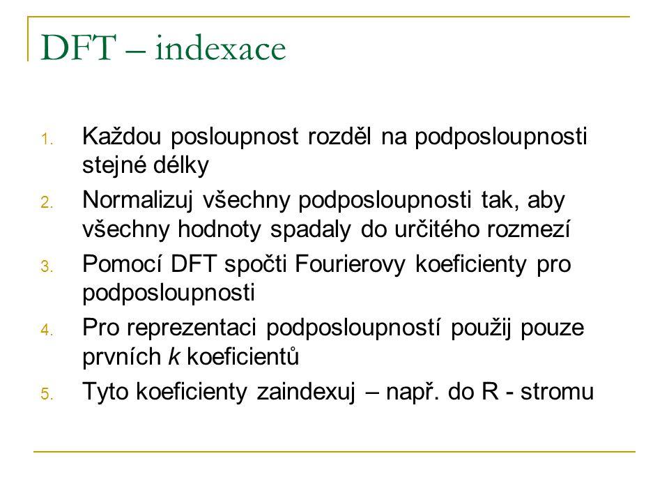 DFT – indexace Každou posloupnost rozděl na podposloupnosti stejné délky.
