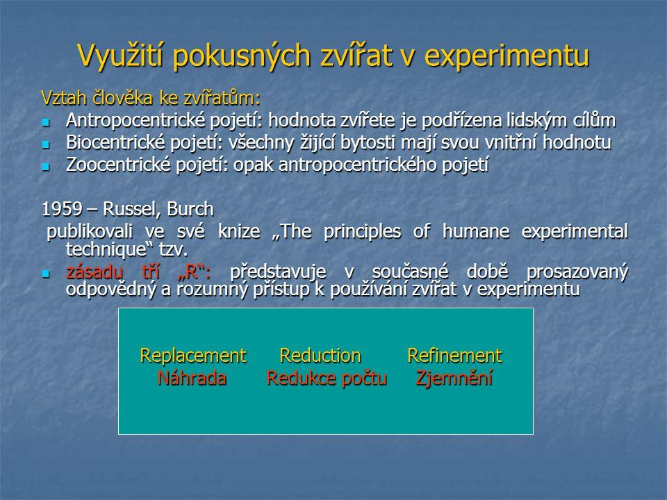 Využití pokusných zvířat v experimentu