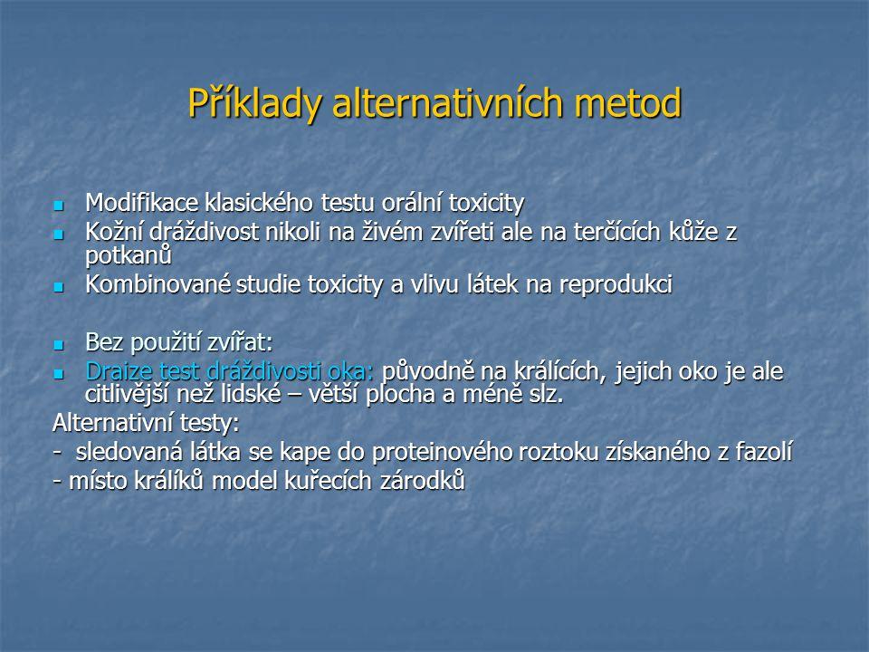 Příklady alternativních metod
