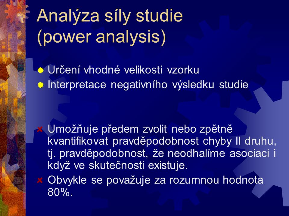 Analýza síly studie (power analysis)