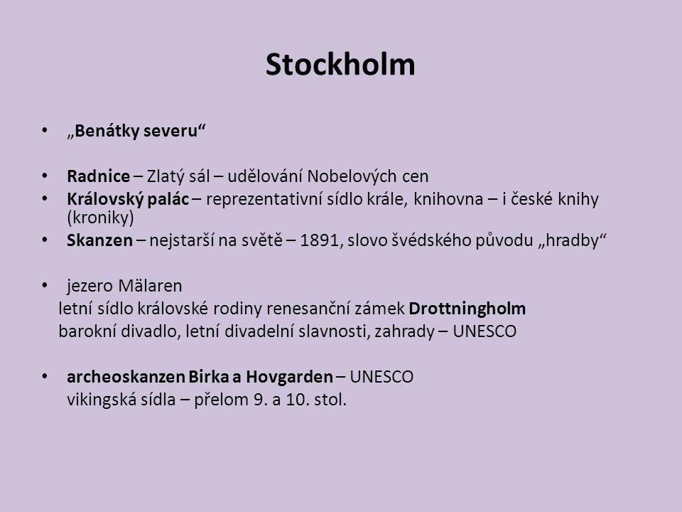 """Stockholm """"Benátky severu"""