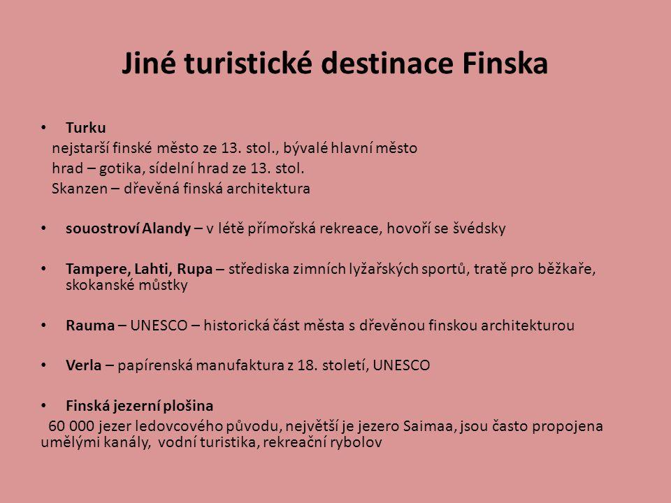 Jiné turistické destinace Finska