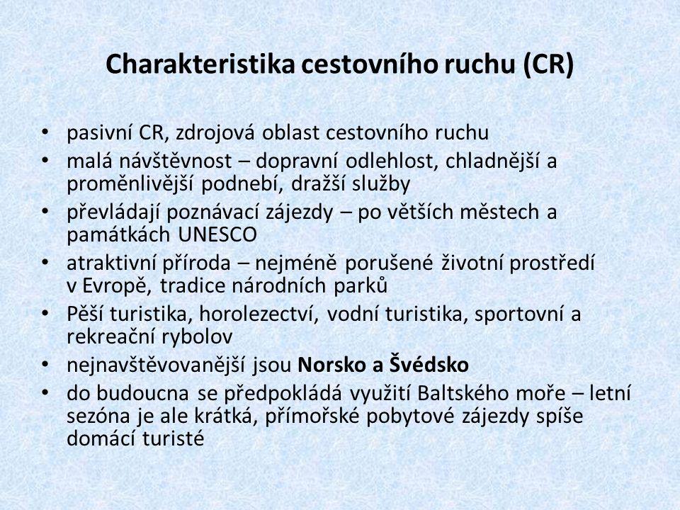 Charakteristika cestovního ruchu (CR)