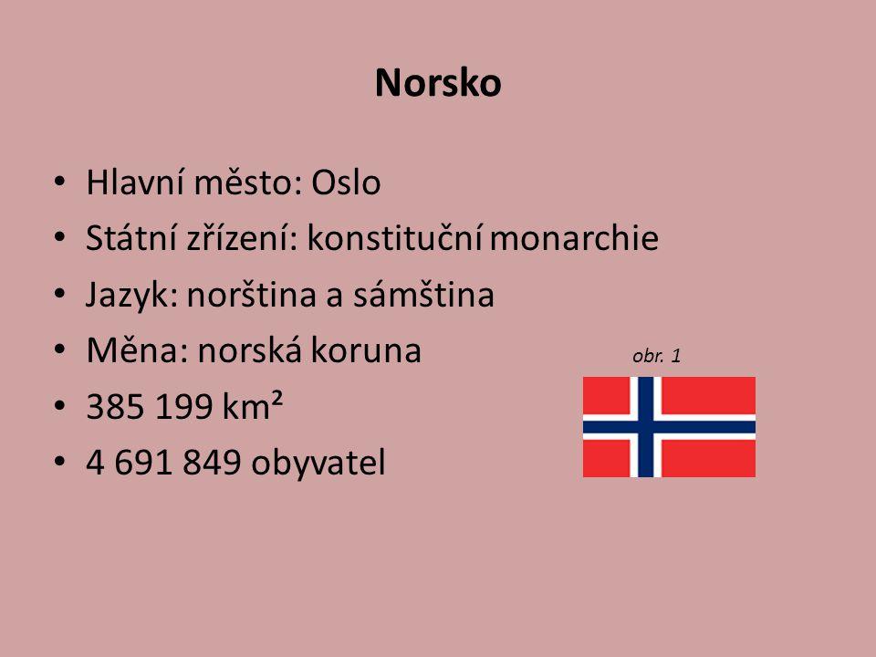 Norsko Hlavní město: Oslo Státní zřízení: konstituční monarchie