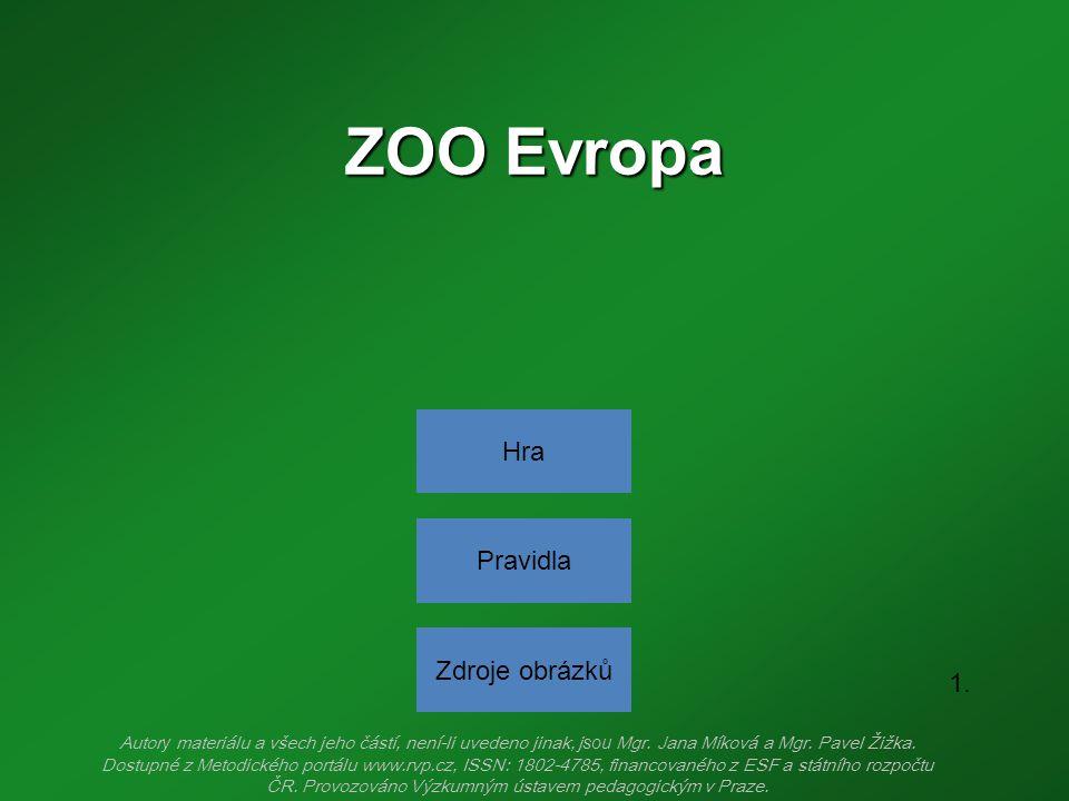 ZOO Evropa Hra Pravidla Zdroje obrázků 1.