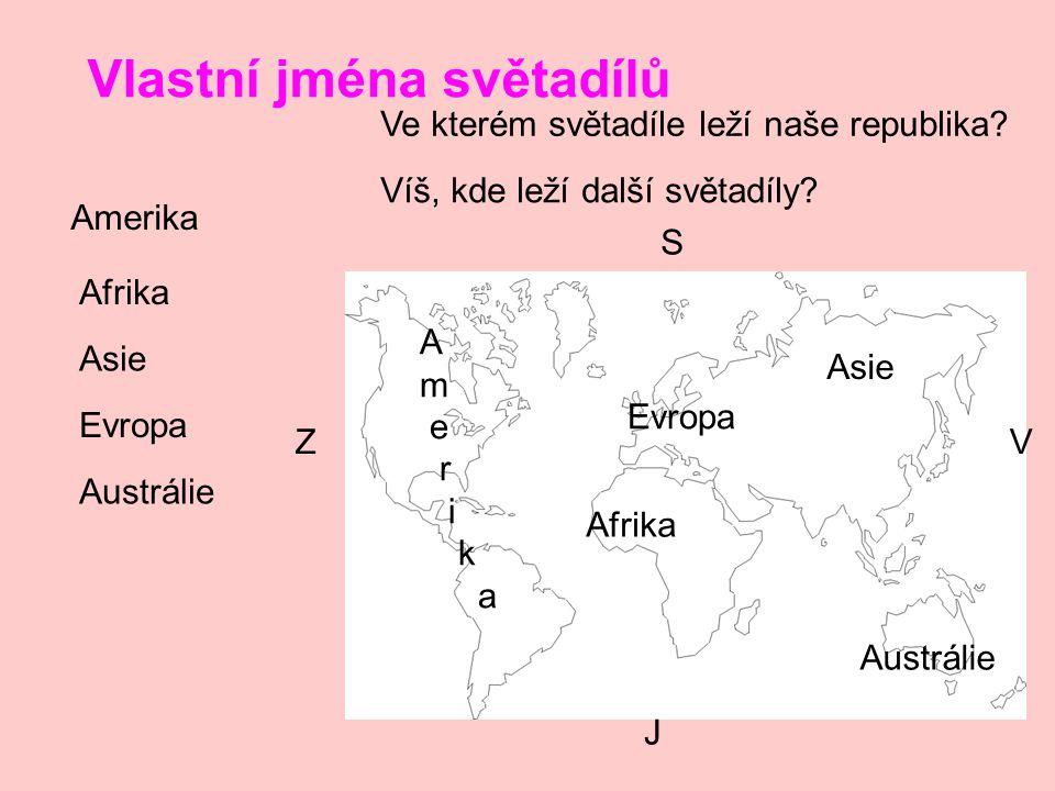 Vlastní jména světadílů