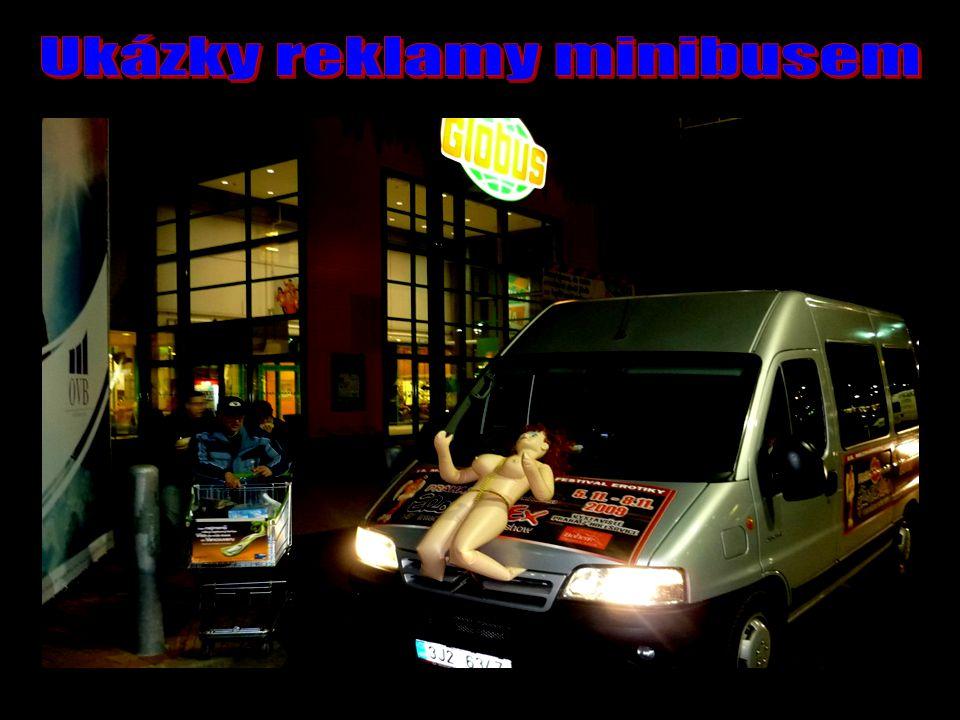Ukázky reklamy minibusem