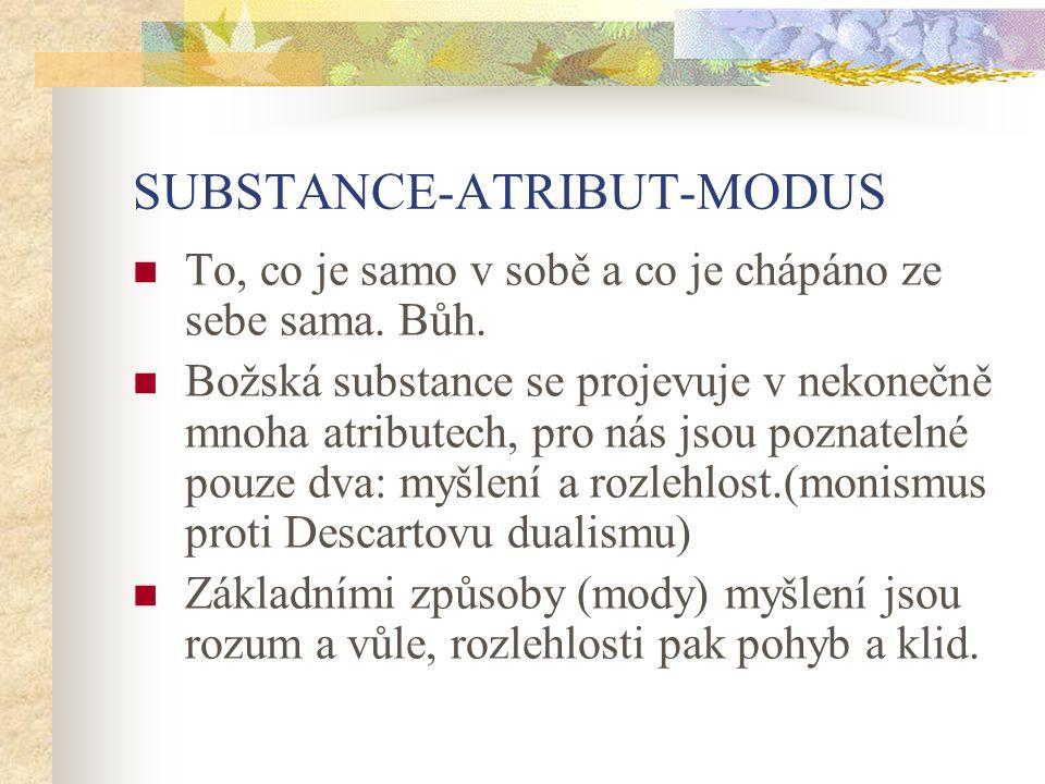 SUBSTANCE-ATRIBUT-MODUS