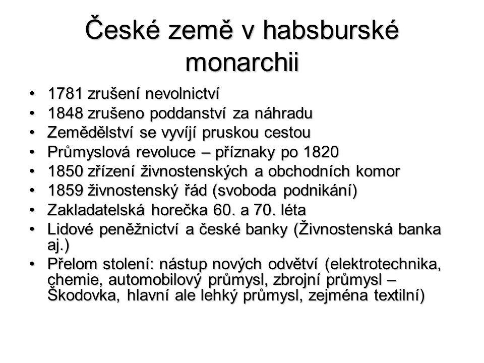 České země v habsburské monarchii