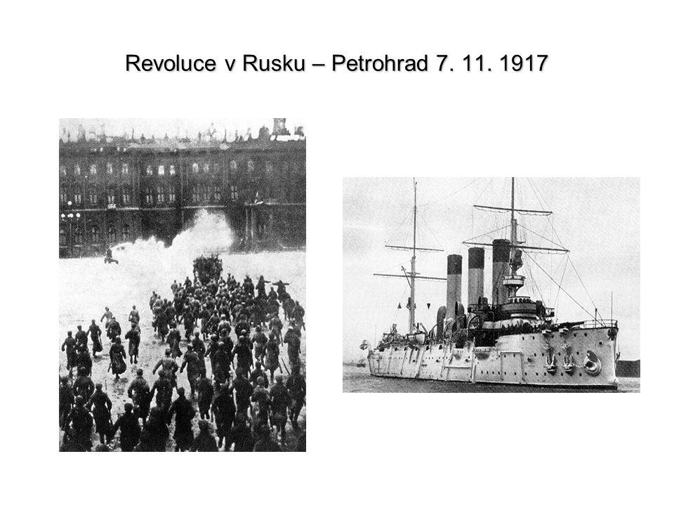 Revoluce v Rusku – Petrohrad 7. 11. 1917