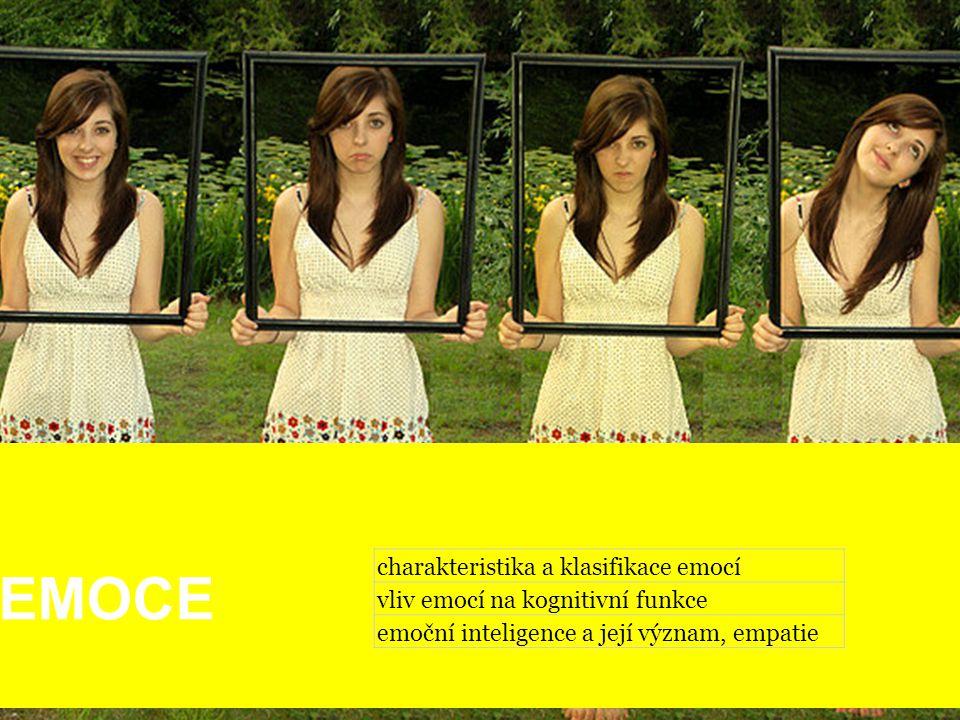 EMOCE charakteristika a klasifikace emocí