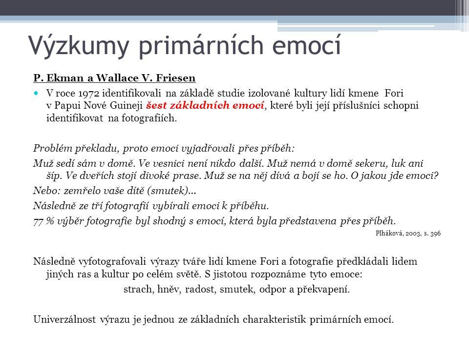 Výzkumy primárních emocí