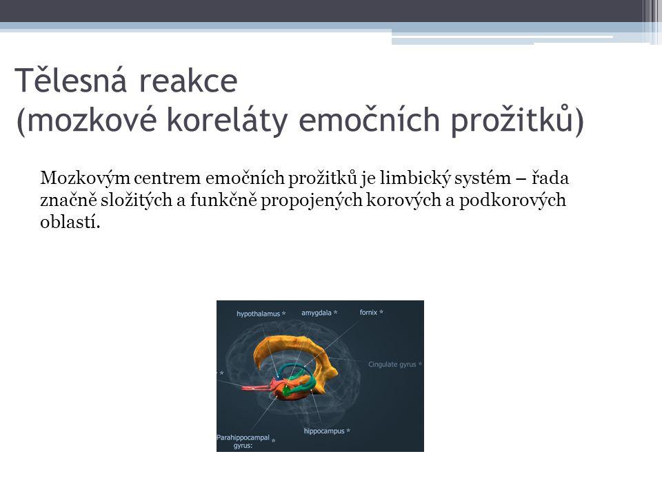 Tělesná reakce (mozkové koreláty emočních prožitků)
