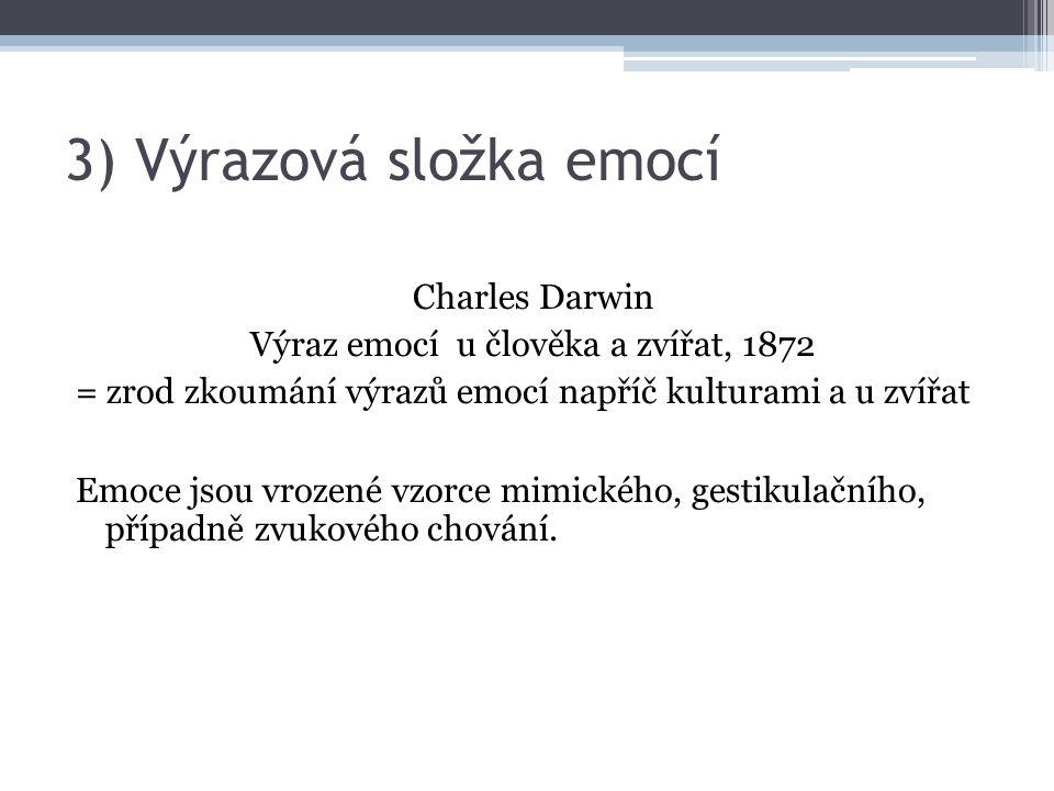3) Výrazová složka emocí