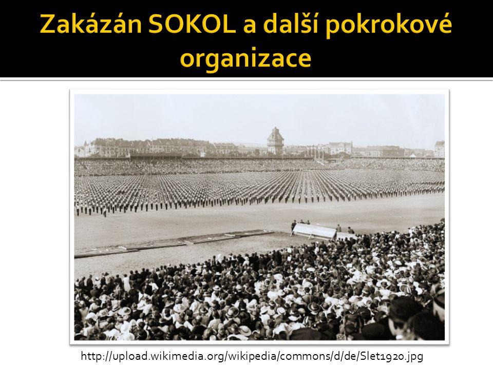 Zakázán SOKOL a další pokrokové organizace