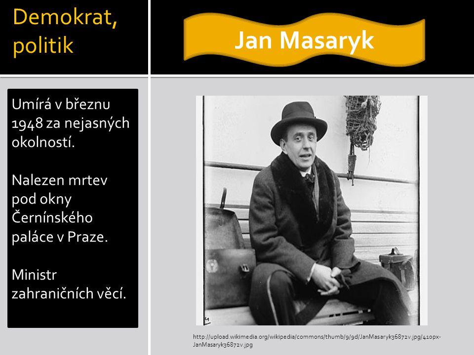 Jan Masaryk Demokrat, politik