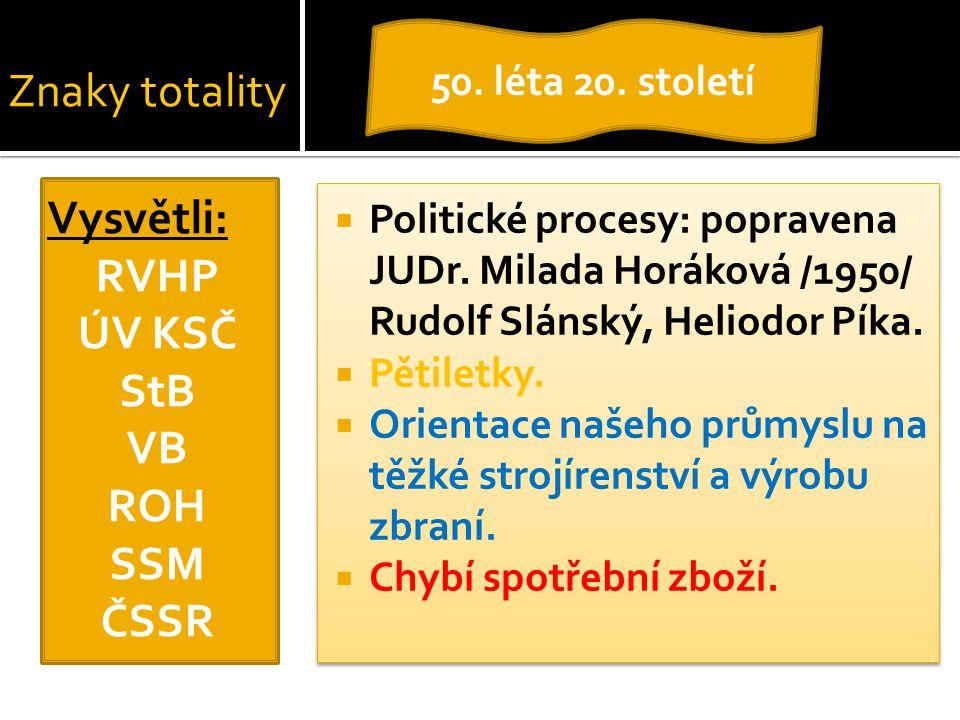 RVHP ÚV KSČ StB VB ROH SSM ČSSR