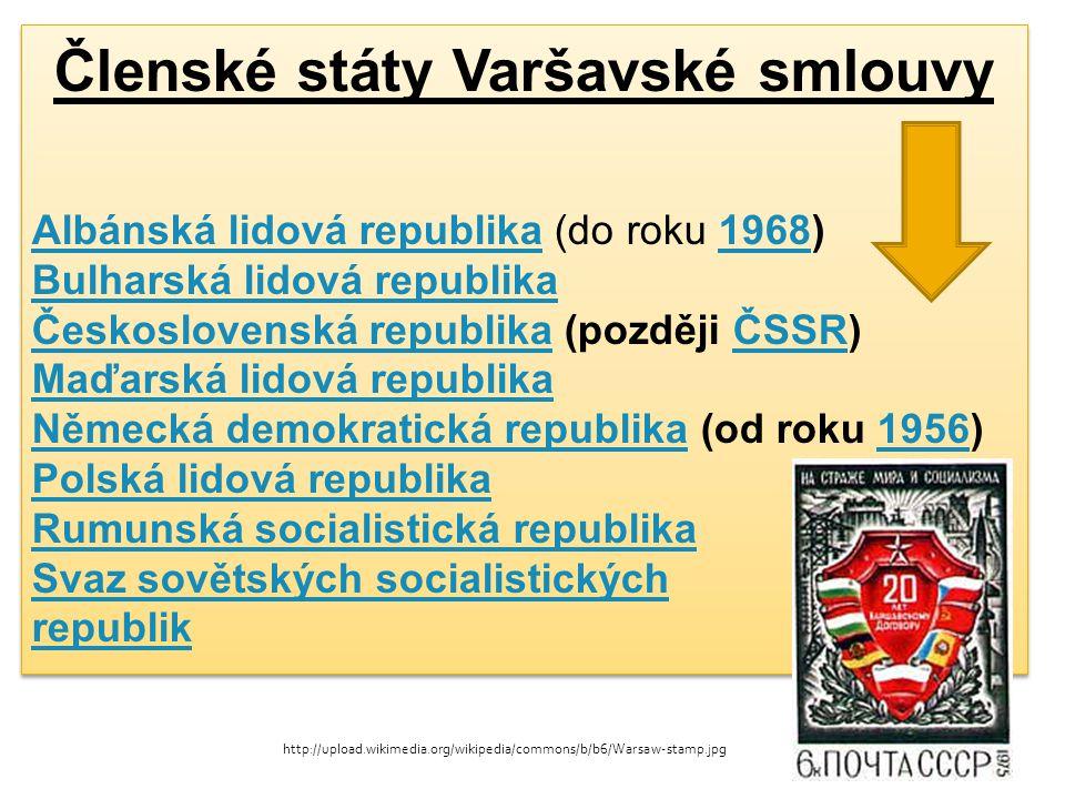 Členské státy Varšavské smlouvy