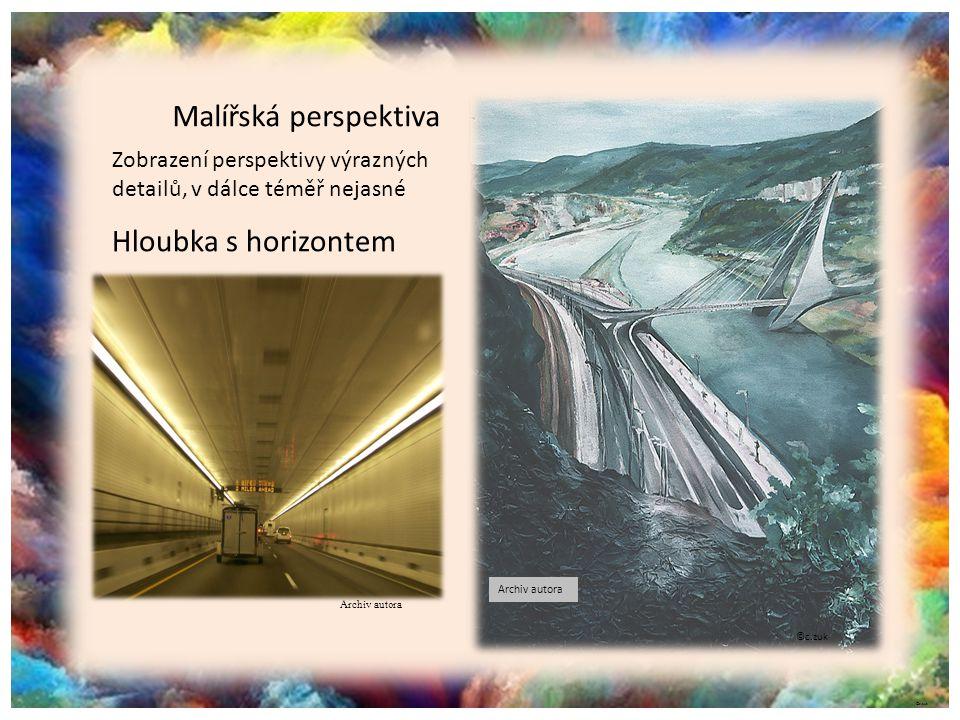 Malířská perspektiva Hloubka s horizontem