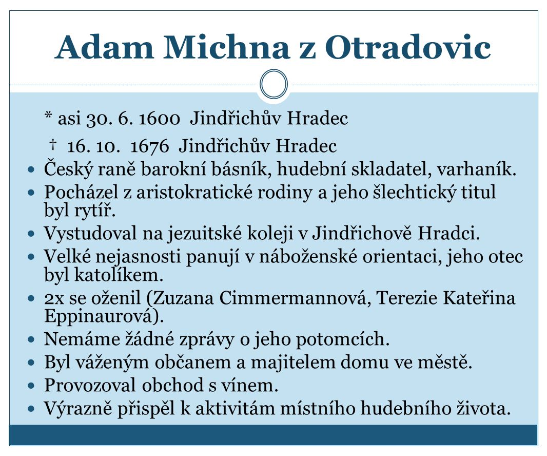 Adam Michna z Otradovic