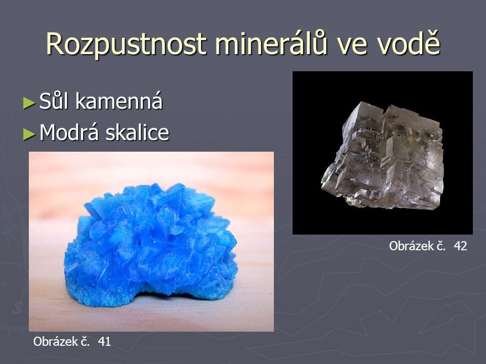 Rozpustnost minerálů ve vodě