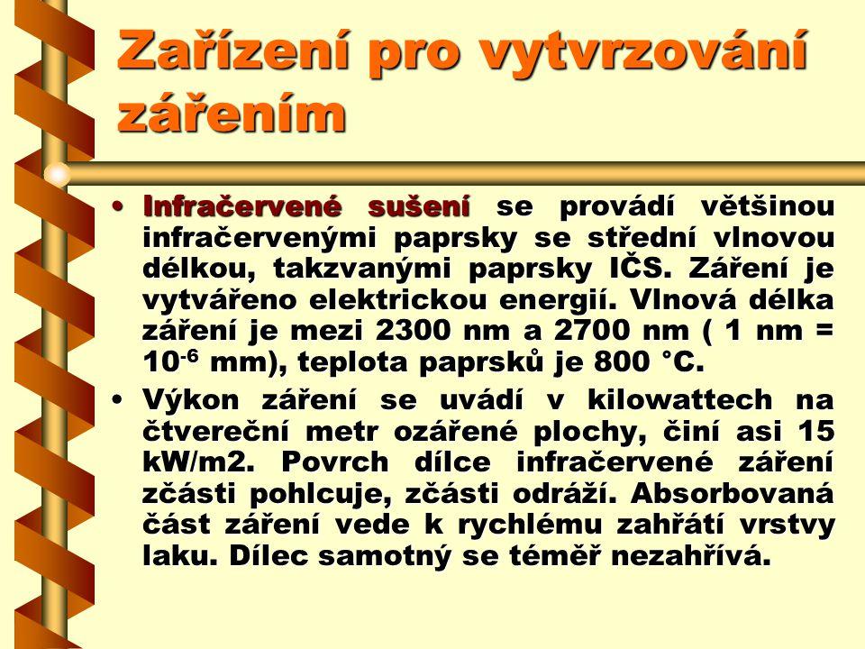 Zařízení pro vytvrzování zářením