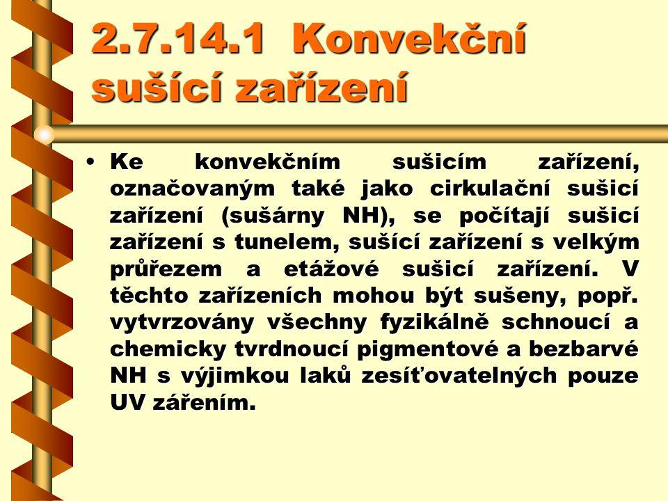 2.7.14.1 Konvekční sušící zařízení