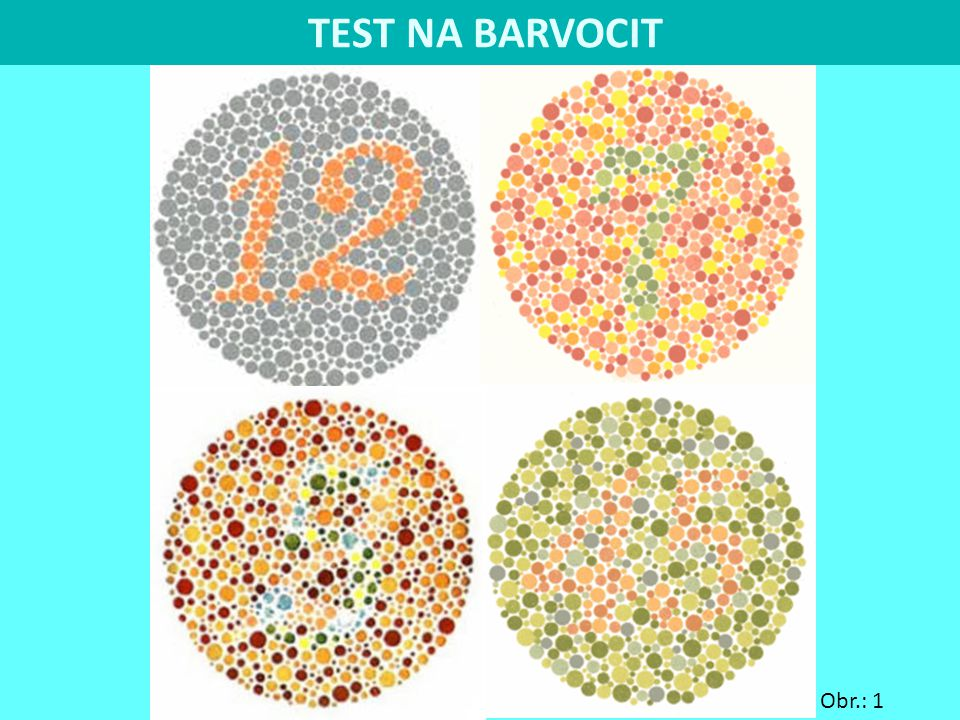 TEST NA BARVOCIT Obr.: 1