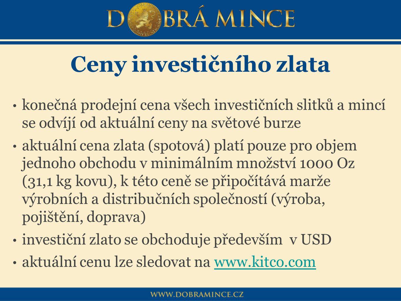 Ceny investičního zlata