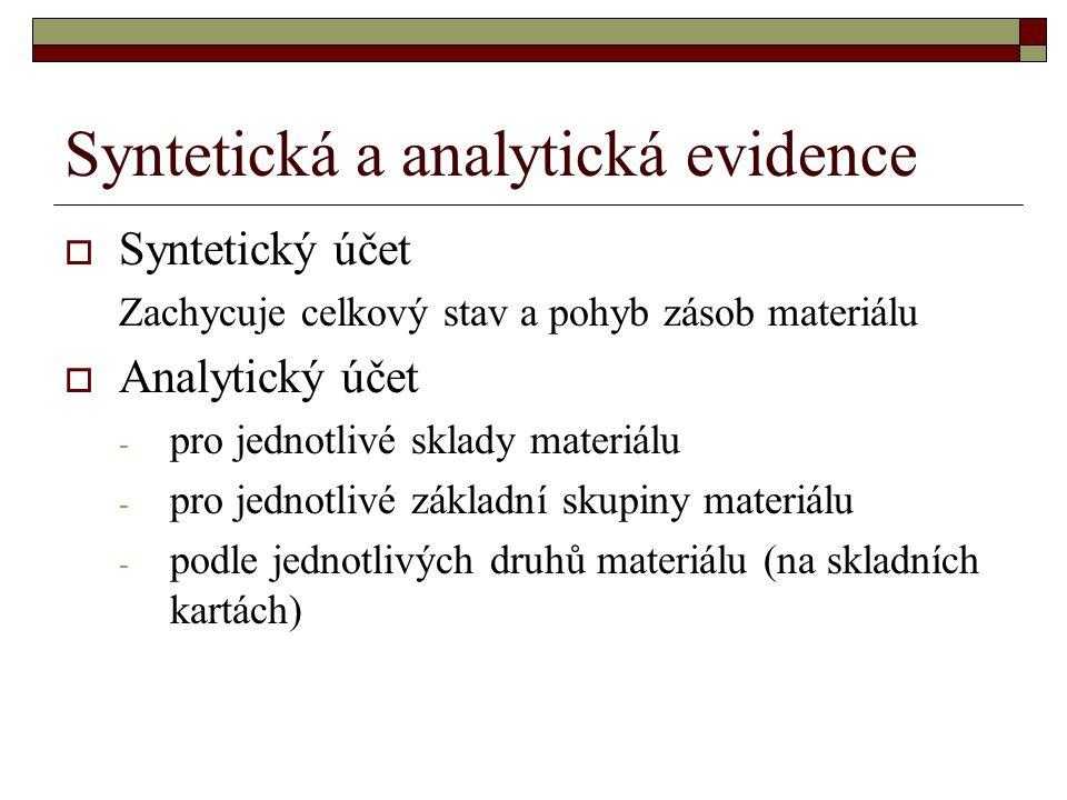 Syntetická a analytická evidence