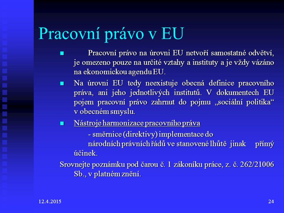 Pracovní právo v EU