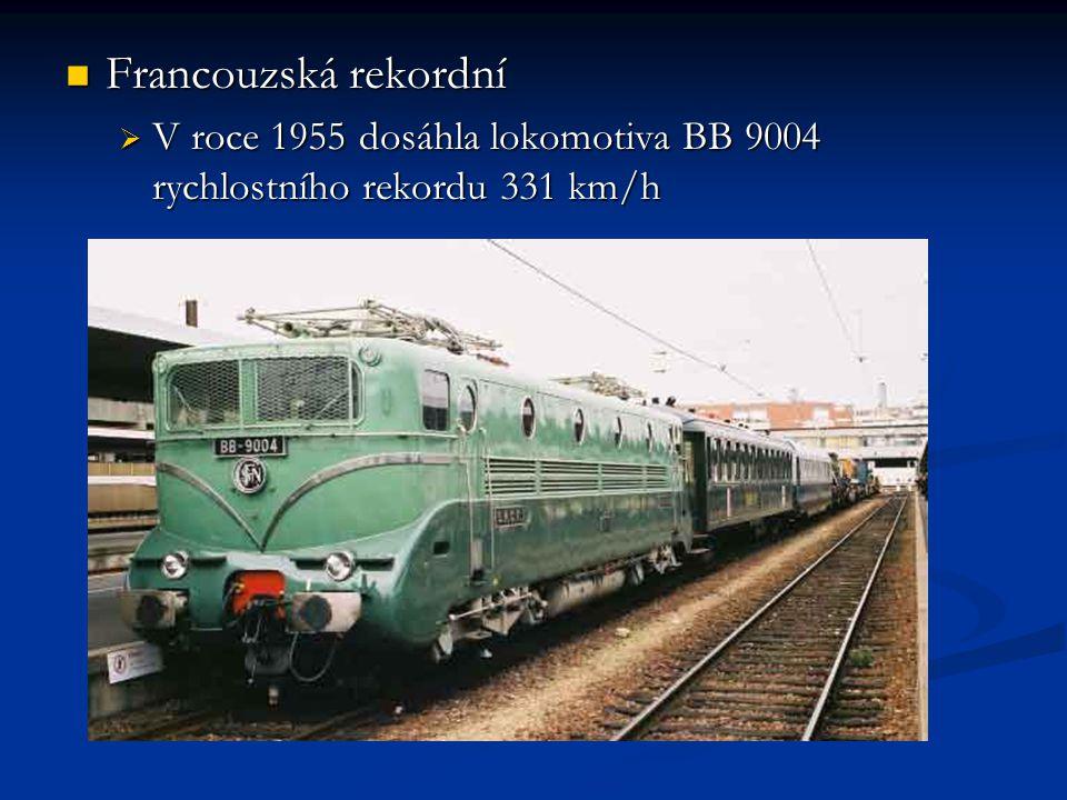 Francouzská rekordní V roce 1955 dosáhla lokomotiva BB 9004 rychlostního rekordu 331 km/h