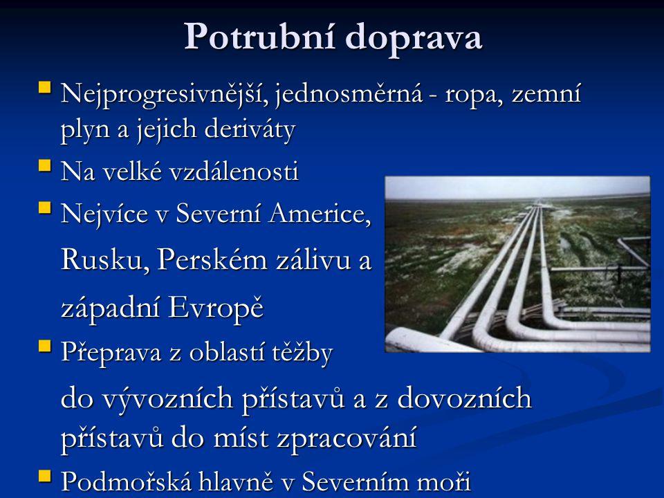 Potrubní doprava Rusku, Perském zálivu a západní Evropě