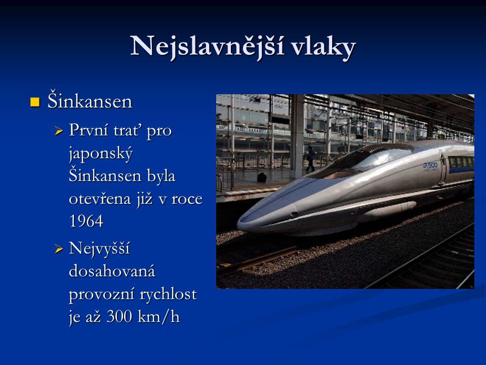 Nejslavnější vlaky Šinkansen