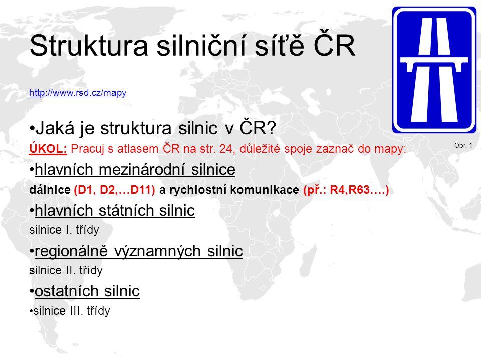 Struktura silniční síťě ČR