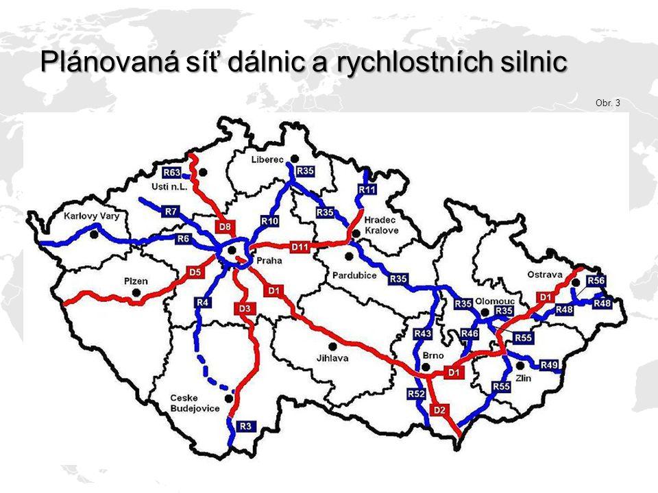 Plánovaná síť dálnic a rychlostních silnic