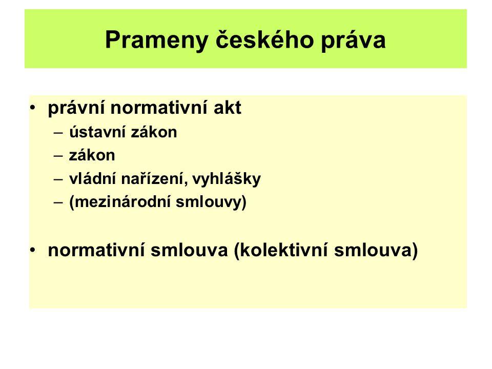Prameny českého práva právní normativní akt