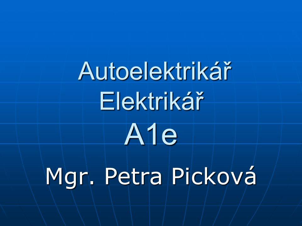 Autoelektrikář Elektrikář A1e