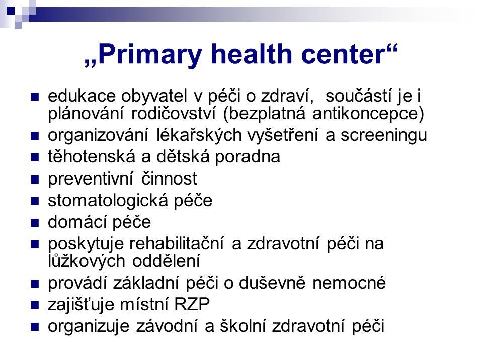 """Primary health center"