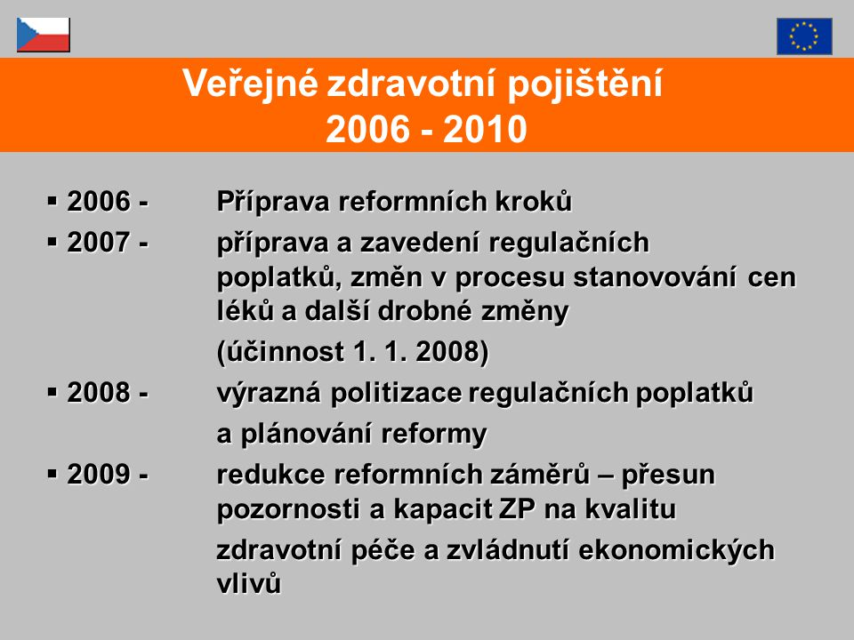 Veřejné zdravotní pojištění 2006 - 2010