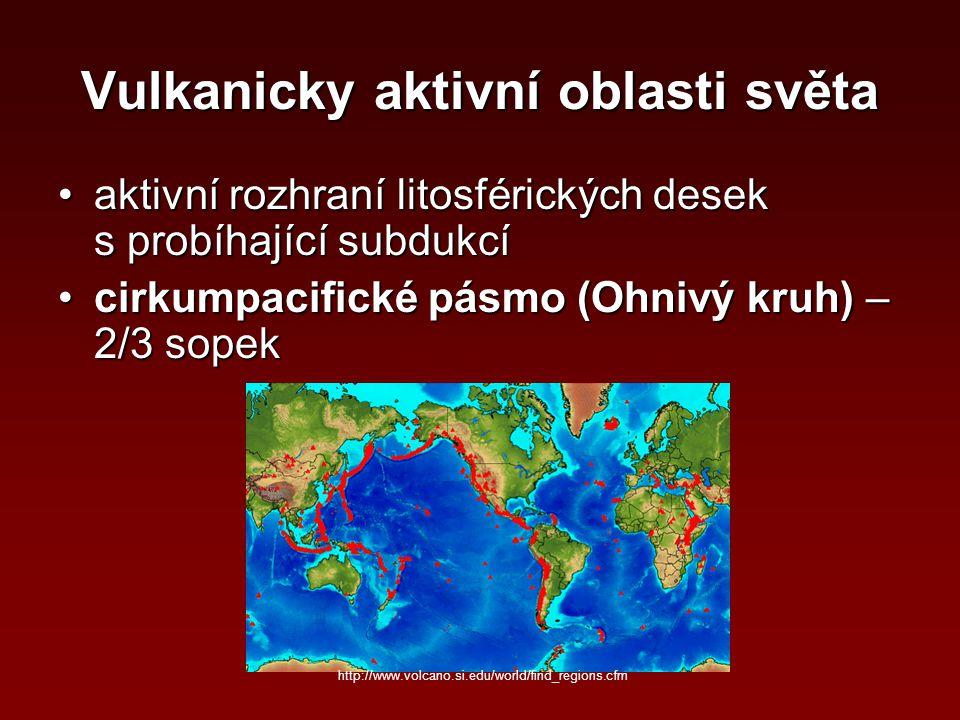 Vulkanicky aktivní oblasti světa