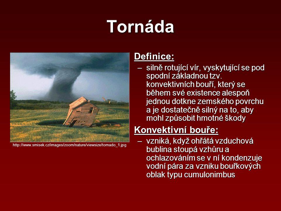 Tornáda Definice: Konvektivní bouře: