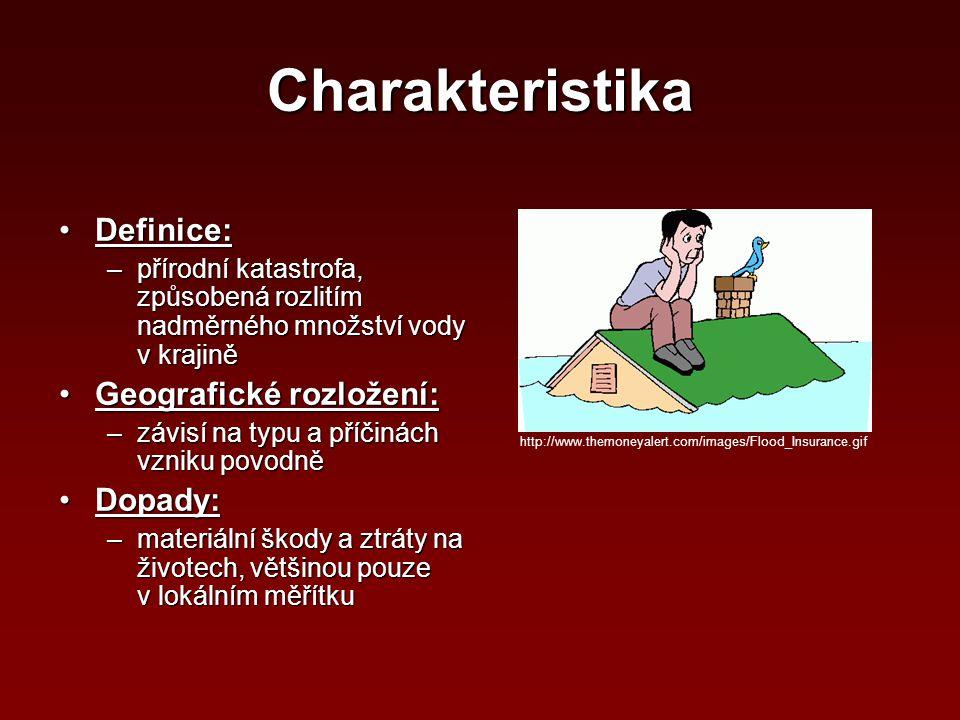 Charakteristika Definice: Geografické rozložení: Dopady: