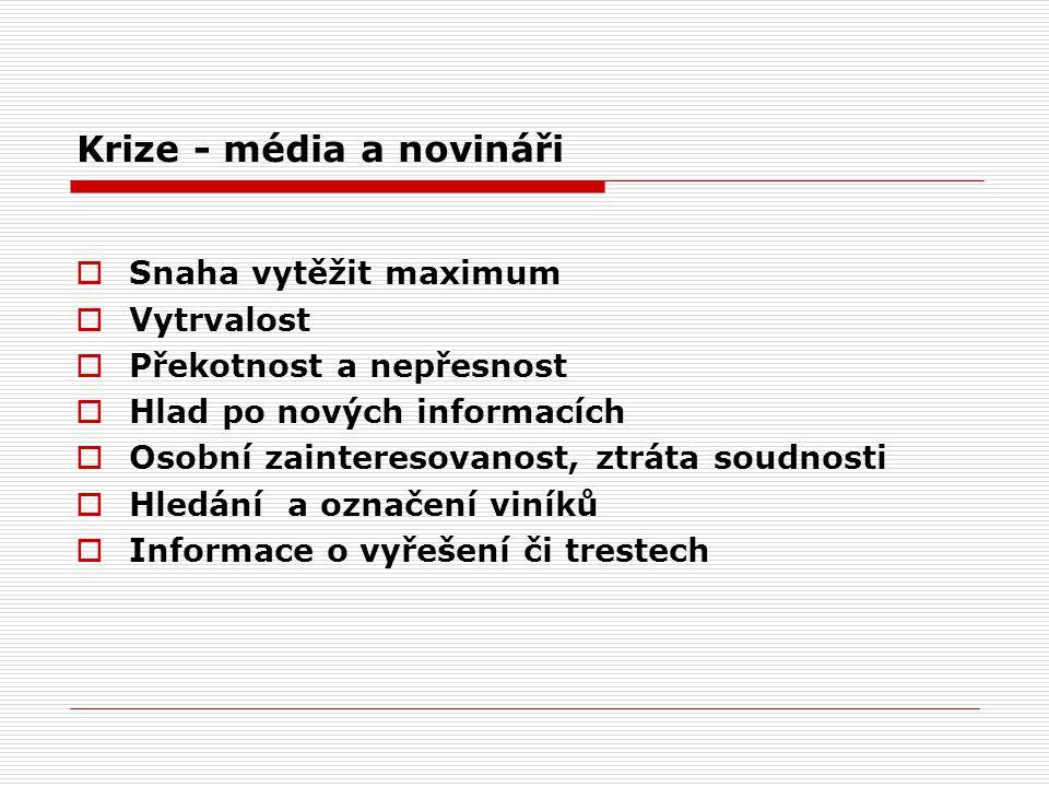 Krize - média a novináři