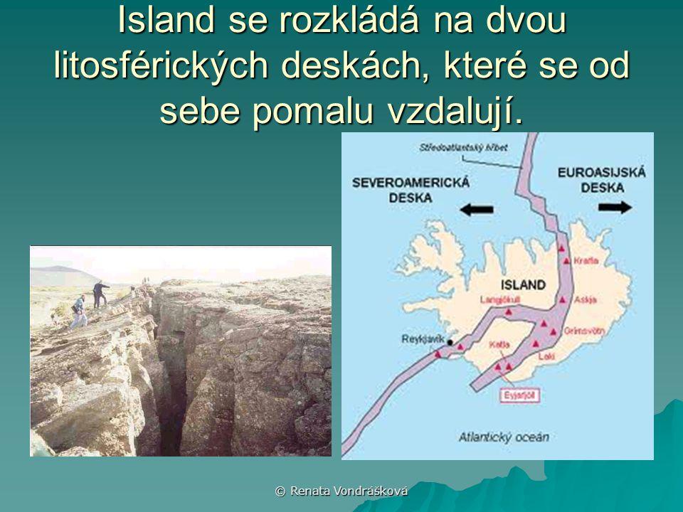Island se rozkládá na dvou litosférických deskách, které se od sebe pomalu vzdalují.