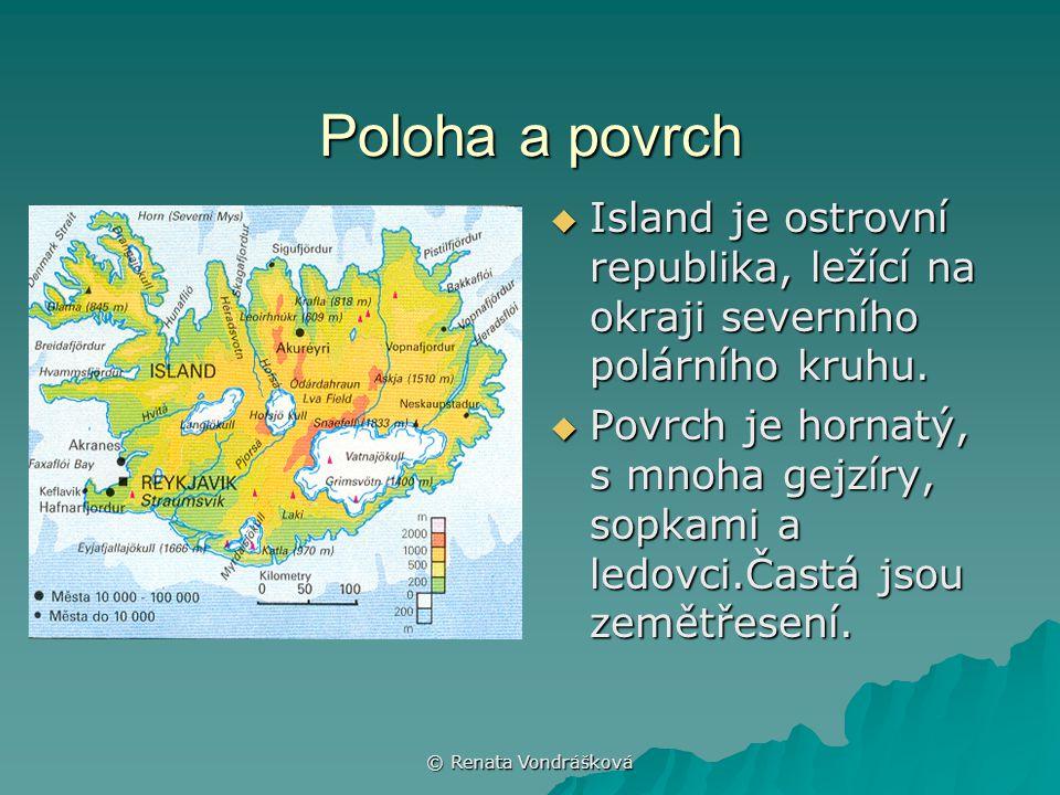 Poloha a povrch Island je ostrovní republika, ležící na okraji severního polárního kruhu.