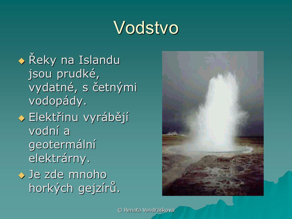 Vodstvo Řeky na Islandu jsou prudké, vydatné, s četnými vodopády.